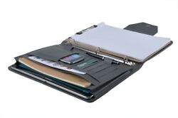 Premium Suede Leather Organiser Folio Binder for Left-Hand or Right-Hand Use Gr