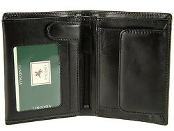 (Black) - Visconti Mens Top Grade Italian Leather Wallet For Credit Cards