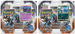 Pokemon Sun amp; Moon Burning Shadows 3 Pack Booster Blister Packs Set of 2 $30.95
