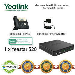 Idea complete IP Phone System for Small Business - Yealink T21P and Yeastar S20 $568.46