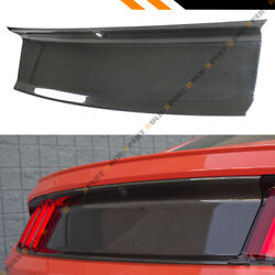 FOR 2015-2020 FORD MUSTANG CARBON FIBER TRUNK PANEL DECKLID TRIM COVER OVERLAY $139.99