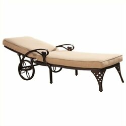 Bowery Hill Patio Chaise Lounge in Bronze (Set of 2)