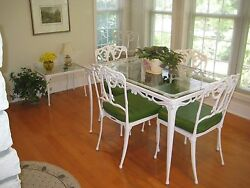 brown jordan INDOOR OR OUTDOOR FRENCH QUARTER COLLECTION TABLE + SIX CHAIRS