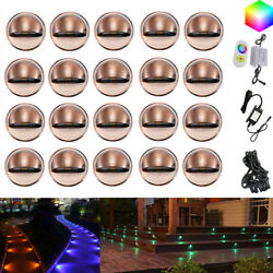 20X RGB 35mm 12V Bronze Half Moon Outdoor LED Deck Rail Step Stair Fence Lights