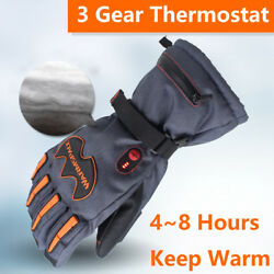 5600mAh Rechargeable Battery Electric Heated Hands Outdoor Winter Warmer Gloves