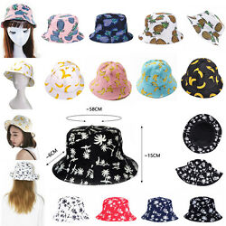 Hats For Women Floral Coconut Foldable Summer Sun Beach Bucket Visor Cap Travel $7.99