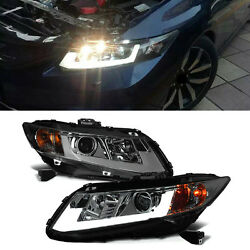 For Honda Civic 2D Sedan 12-13 LED HID Xenon Projector Headlights+Cornering Lamp
