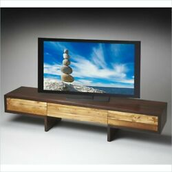 Butler Specialty Loft Modern TV Stand in Natural and Espresso