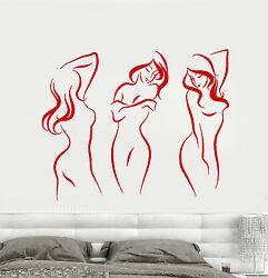 Vinyl Wall Decal Beautiful Sexy Naked Girls Decor For Adults Stickers 1685ig $21.99