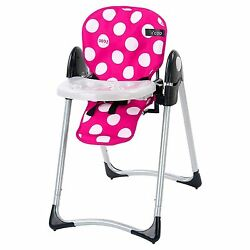 iCoo Girl Kid Toddler Pretend Doll Up N Down High Chair - Pink and White