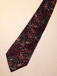 Field & Stream Classic Silk Multicolor Novelty Neck tie USA 58