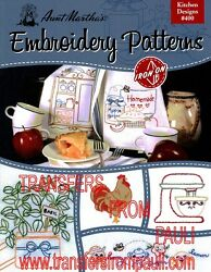 Kitchen Designs Aunt Martha#x27;s Hot Iron Embroidery Transfers Booklet #400 $4.65