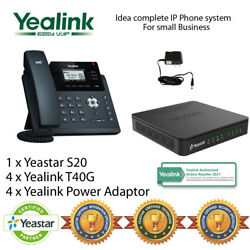 Idea complete IP Phone System for Small Business - Yealink T40G and Yeastar S20 $860.17