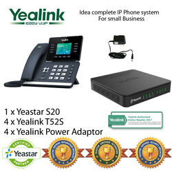 Idea complete IP Phone System for Small Business - Yealink T52S and Yeastar S20 $1,144.40