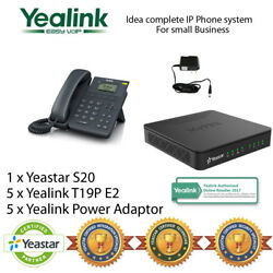 Idea complete IP Phone System for small business- Yealink T19PE2 and Yeastar S20 $642.51