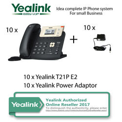 Idea complete IP Phone System for Small Business - 10 x Yealink T21P  $613.34