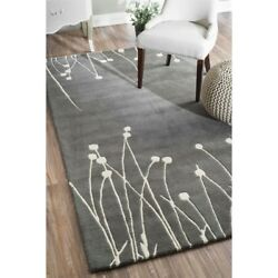 Nuloom 7' 6 X 9' Hand Tufted Daza Rug Area Rugs Natural Fibers Wool In Gray