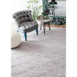 Nuloom 7' 6X9' Hand Tufted Wilhelmina Rug Area Rugs Natural Fibers Wool In Gray