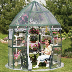 Greenhouse Green House Kit Cottage Poly Plastic Outdoor PVC Frame Hobby Flower