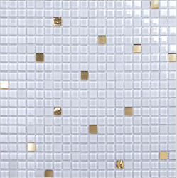 11pcs White golden glass mosaic tiles Kitchen backsplash tiles for wall