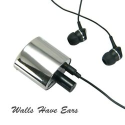 Sensitive Spy Audio Listening Wall Contact Microphone Device With Metal House