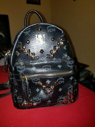 Authentic MCM munchen Small Backpack black $550