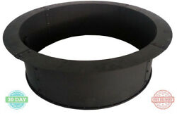 Outdoor Patio Fire Pit Heavy-duty Solid Steel Ring Wood Burning Black Finish 34