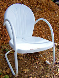 Vintage Metal Lawn Pool Chair Retro 50's?
