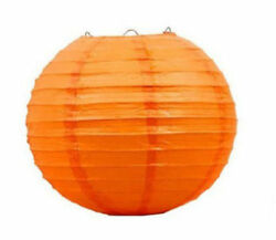 12quot; Orange Chinese Hanging Paper Lanterns Party Decorations Halloween Fall Decor $8.99
