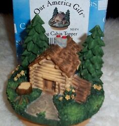Yankee Candle Jar Topper Our America Rustic Log Cabin Decor Trees New Xmas Gift