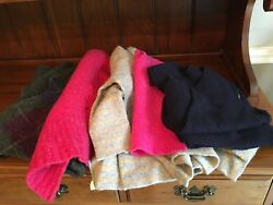FELTED WOOL SWEATER PIECES Med- LG 2 LB FOR FELTED WOOL PROJECTS - (3)