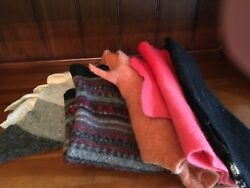 FELTED WOOL SWEATER PIECES Med- LG 2 LB FOR FELTED WOOL PROJECTS - (2)