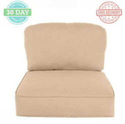 Replacement Lounge Chair Cushion Square Foam Fabric Stain UV Water Resistant