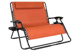 Double Folding Beach Chair Lounge Patio Outdoor Yard Reclining Camping Deck RV
