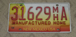 NEW MEXICO BALLOON BASE MANUFACTURED HOME LICENSE PLATE 31629 MH A