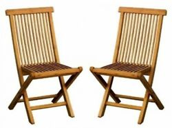 2 X SOLID WOODEN TEAK GARDEN OUTDOOR FOLDING CHAIRS. Bentley Premier
