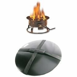 Heininger 58000 BTU Portable Propane Outdoor Fire Pit And Cover With Carrying