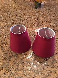 10 Burgundy Mini Chandelier Shades $40.00