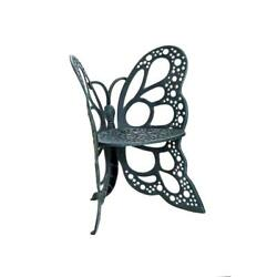 FlowerHouse Antique Butterfly Patio Chair Wrought Iron Aluminum Outdoor Seat New