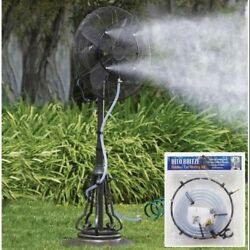 Outdoor Garden Patio Fan Water Misting Kit. CC Home Furnishings. Free Delivery