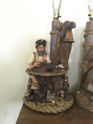 1 12 Apsit Bros. Nautical Captains Lamp. Large 28 inches tall $800.00