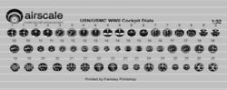 Airscale 1 32 WWII US Navy Instrument Dials decal 3208 x $12.05