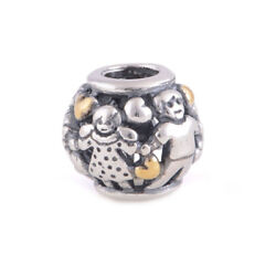 Vanzea Authentic Mother's Day Family Forever 925 Silver Two Tone Charm