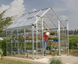 Polycarbonate Greenhouse Kit Mini Hobby Small Outdoor Garden Palram Clear Grow