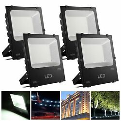 4Pack 150W LED Flood Light Commercial Outdoor Security Lamp 450 Watt Equivalent
