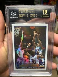 POP 1 BLACK LABEL BGS 10 CHROME REFRACTOR CARMELO ANTHONY 2003 LEBRON JAMES YEAR