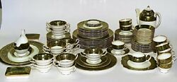 106-Piece 12 Settings w Extras Wedgwood China Florentine Green