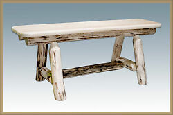 Rustic LOG CABIN Dining Table Bench 45