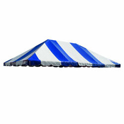 20x30' Tent Top Block-out Premium Blue White West Coast Frame Wedding Canopy Top