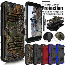 For ZTE Blade Vantage  Avid 4 Z855  Tempo X Rugged Hard Armor Phone Case Cover